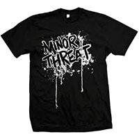 Minor Threat- Splatter Logo on a black shirt