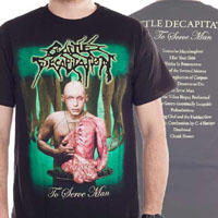 Cattle Decapitation- To Serve Man on front & back on a black shirt (Sale price!)
