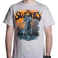 Sword- Black River on an ice gray shirt