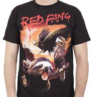 Red Fang- Sloth on a black shirt (Sale price!)