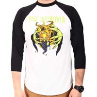 Pig Destroyer- Head Hold on a white/black 3/4 sleeve shirt (Sale price!)