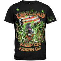 Dimebag Darrell- Keep On Keeping On on a black shirt (Pantera) (Sale price!)