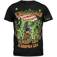 Dimebag Darrell- Keep On Keeping On on a black shirt (Pantera)