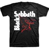 Black Sabbath- Winged Demon on a black shirt