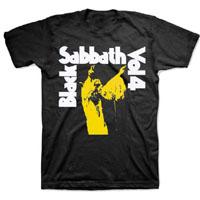 Black Sabbath- Vol 4 on a charcoal ringspun cotton shirt