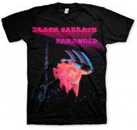 Black Sabbath- Paranoid on a black shirt