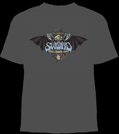 Sword- Bat Crest on a charcoal shirt (Sale price!)