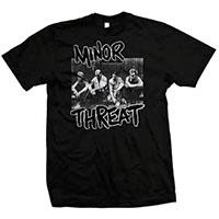 Minor Threat- Band Pic on a black shirt
