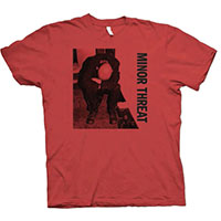 Minor Threat- Album Cover on a red shirt