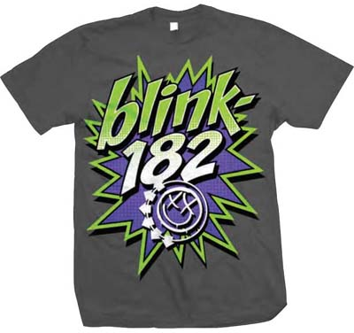 Blink 182- Pow! on a charcoal shirt (Sale price!)