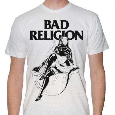 Bad Religion- Sexy Nun on a white shirt