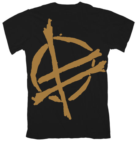 Fucked Up- Gold Symbol on a black shirt (Sale price!)