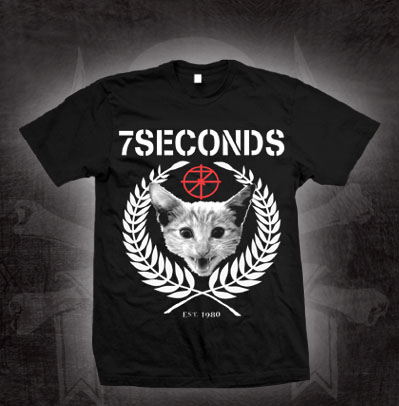 7 Seconds- Cat on a black shirt (Sale price!)