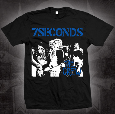 7 Seconds- The Crew on a black shirt (Sale price!)