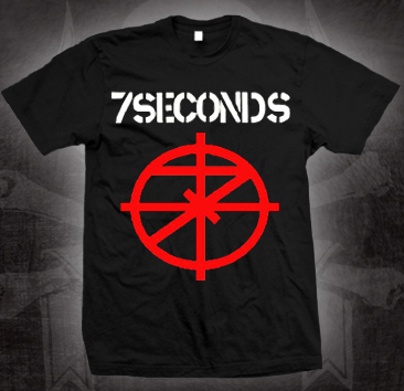 7 Seconds- Scope Symbol on a black shirt (Sale price!)