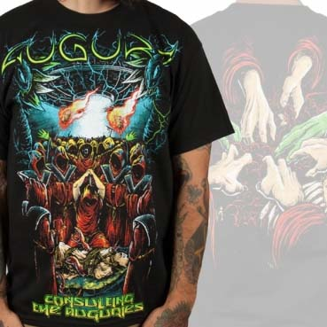 Augury- Consulting The Auguries on front, Hands on back on a black shirt (Sale price!)