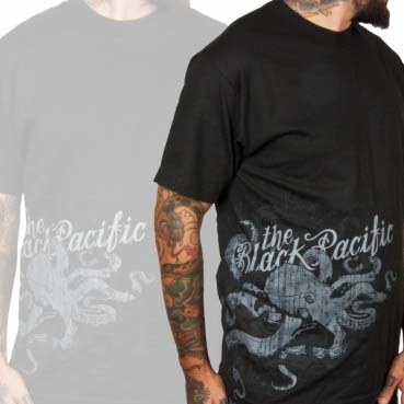 Black Pacific- Octopus on a black shirt (Sale price!)