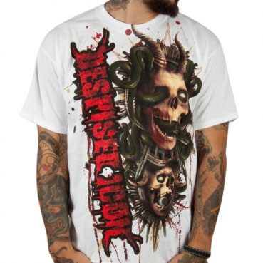 Despised Icon- Demons on a white shirt (Sale price!)