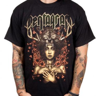 Pentagram- Priestess on a black shirt