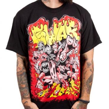 Gwar- Bloody Cartoon on a black shirt