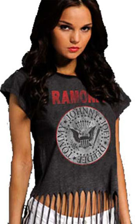 Ramones- Presidential Seal on a girls fringe top (Sale price!)