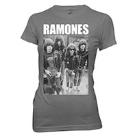 Ramones- Band Pic on a black girls fitted shirt