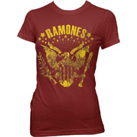 Ramones- Eagle on a maroon girls fitted shirt
