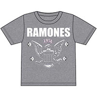 Ramones- 1974 Eagle on a heather grey shirt