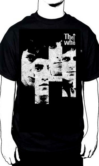 Who- Faces on a black shirt