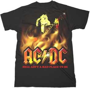 AC/DC- Hell Ain't A Bad Place To Be on a black shirt (Sale price!)