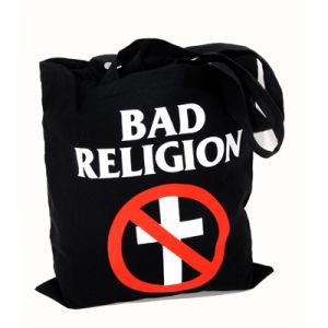 Bad Religion- Cross Buster on a black tote bag