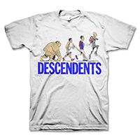 Descendents- Ascent Of Man on a white shirt