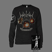 Watain- Sworn To The Dark on front, To The Death on back on a black LONG SLEEVE shirt