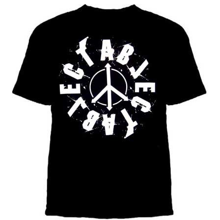 Abject- Peace Logo on a black shirt (Sale price!)