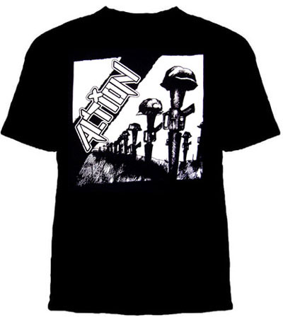 Action- Rifles on a black shirt (Sale price!)