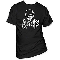 Adicts- Face on a black shirt