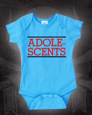 Adolescents- Logo on a blue onesie (S=0-6m, M=6-12m, L=12-18m, XL=18-24m) (Sale price!)