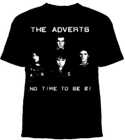 Adverts- No Time To Be 21 on a black shirt (Sale price!)