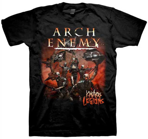 Arch Enemy- Khaos Legion on a black shirt (Sale price!)