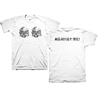 Against Me!- Meat on front, Logo on back on a white shirt (Sale price!)