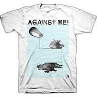 Against Me!- Sculpture on a white shirt