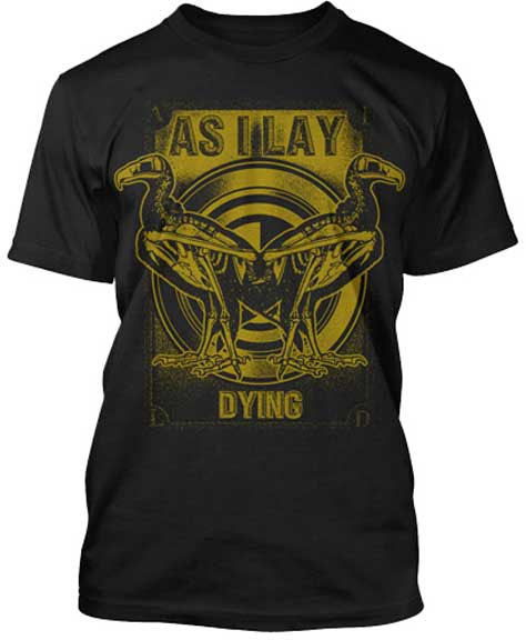 As I Lay Dying- Vultures on a black ringspun cotton shirt (Sale price!)