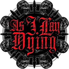 As I Lay Dying- Skulls belt buckle (bb269) (Sale price!)