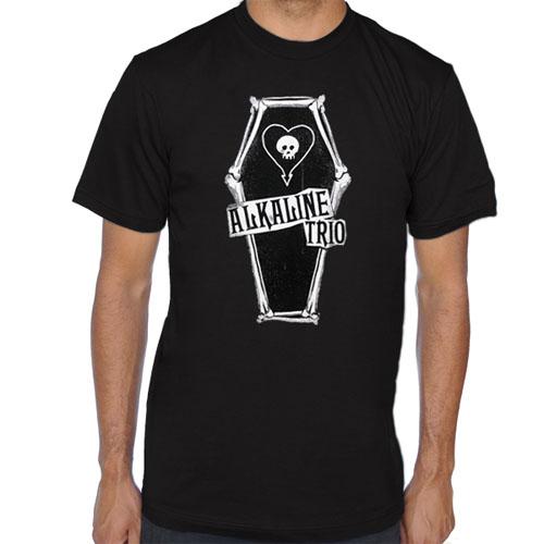Alkaline Trio- Bone Coffin on a black shirt