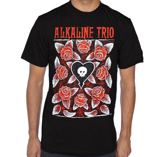 Alkaline Trio- Roses on a black shirt