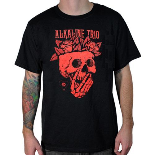 Alkaline Trio- Rosebrains on a black ringspun cotton shirt