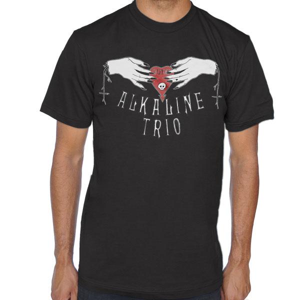Alkaline Trio- Ouija Hands on a black ringspun cotton shirt