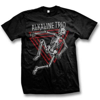 Alkaline Trio- Skeleton on a black ringspun cotton shirt
