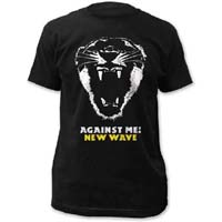 Against Me!- New Wave on a black ringspun cotton shirt