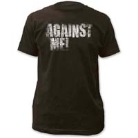 Against Me!- Logo on a coal ringspun cotton shirt (Sale price!)